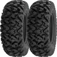 Pair 2 Sedona Buzz Saw XC 26x10-12 ATV Tire Set 26x10x12 26-10-12