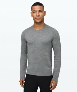 Lululemon Men's Alpine Air Crew Sweater HCMG Heathered Core Medium Grey