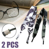 2pcs Camo Sunglass Eyeglasses Glasses Spectacle Sports Holder Retainer Strap