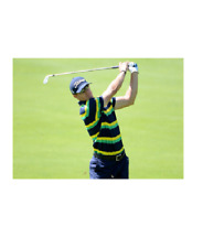 Rlx Ralph Lauren Golf Men's Custom Fit Double Striped Polo French Navy