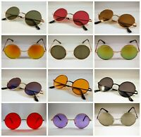 Circle Round Vintage Style Hippie 50s 60s Sunglasses John Lennon  Retro Cyber