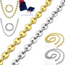 Curb Chain Bohnenarmband Necklace Stainless Steel Schiffs-Ankerkette King's