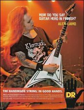 Children of Bodom Alexi Laiho DR Strings on ESP Guitar ad 8 x 11 advertisement