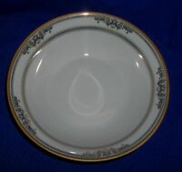 "Vintage Savoy Home Gold Trim Serving China Bowl- 9""D"