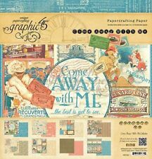 Graphic 45 Come Away With Me 12x12 Double-Sided Cardstock Paper Pad Travel