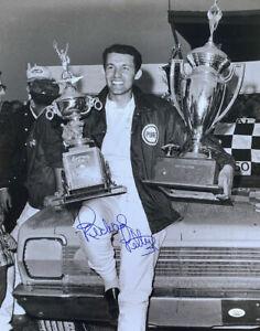 Richard Petty Signed 16x20 Nascar Double Trophy Photo JSA