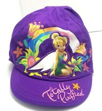 Disney Fairies Totally Pixified Hat Cap Fitted Stretch Purple Youth Size