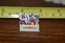 "Dollhouse Miniature 1/4"" Scale - Toy Chest Raggedy Ann & Andy And Other Items"