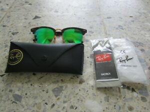Ray-Ban Sonnenbrille RB 3016 Clubmaster 114519 51-21 145 3N