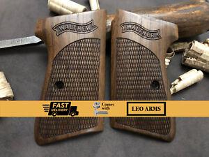 Walther PPK/S Walnut Wood Grips. Handmade. Diamond Checkered. FAST USA SHIPPING