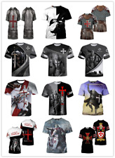 HOT SALES!! New Fashion Knights Templar 3D Printed Casual T-shirts for Women/men