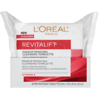 L'Oreal Paris Skincare Revitalift Wipes  Smoothing Facial Cleansing Towelettes