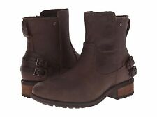UGG® AUSTRALIA ORION BROWN LEATHER ANKLE BOOTS UK 5.5 EUR 38 USA 7 RRP £160