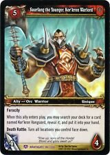 WOW Saurfang the Younger Kor 'Kron Warlord 146/220 WRATHGATE FOIL PROMO MINT ENG