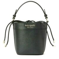 Kate Spade Cameron Small Drawstring Top Handle Bucket Crossbody Bag Black $299