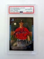 Clay Buchholz 2005 Bowman Chrome Signed Autograph RC Card PSA/DNA Slabbed COA