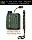 N2 The Wild Gear Lanyards Veteran Camo & Coyote Coiled Paracord Lanyard Tether
