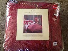 Lenox Waltx QUEEN Comforter Set - 4 Piece Red and Gold New!
