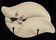 Crown Devon Leaf-Shaped Divided Dish with Fuschia Flowers #1104