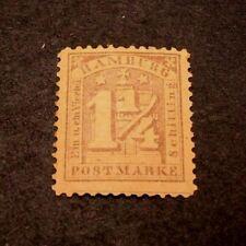 German Hamburg Scott# 22  Numeral on Arms 1864-65 MH  C329