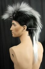 Quality MOHAWK Wig ..Unisex ..   Black Tipped in White  ..HOT!  *