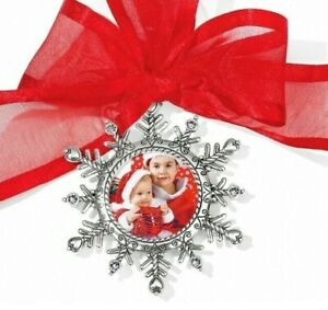 NWT Brighton SNOWFLAKE PHOTO Christmas Holiday Ornament Personalize Picture