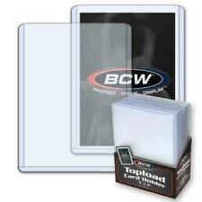 50 Top loaders (2 packs) BCW 3x4 Toploaders 20PT + 100 Penny Sleeves