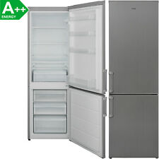 A++ Kühl-Gefrierkombination 268 Liter Stand Kühlschrank LED Edelstahl-Look 170cm
