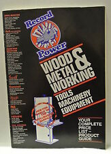 Complete Price list Product Guide 1989 Record Power. Wood & Metal Working