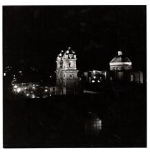 PHOTO ANCIENNE 1960 Pérou Peru Amérique du Sud NUIT Jeu de lumière Église