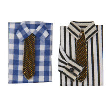 1:12 Dollhouse Bedroom Decoration 2pcs T-Shirt with Necktie Different Styles