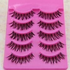5 pair Natural clear band False eyelashes Winged eye lashes Daily eyelashes Z1
