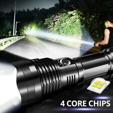High Bright LED Zoomable Flashlight XHP70 Torch USB Rechargeable Waterproof Lamp