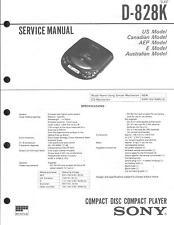 Sony Original Service Manual für  D-828K