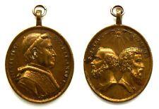 Medaglia Papale Pio IX Pont. Opt. Max. Anno I – S. Petrus S. Paulus Bronzo