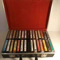 Lot Of 30 Cassettes With Leather Case in Very Good+ Condition