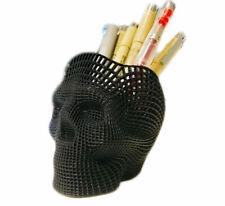 Skull Desk Supplies Pencil Pen Organizer Caddy Holder