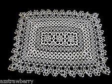 Vtg Ecru Crochet Lace Table Doily Lace Center Mat Dresser Decor
