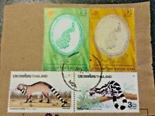 Collection Of Thailand Stamps on paper