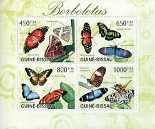 Guinea-Bissau Butterflies Stamps 2009 MNH Butterfly Insects 4v M/S