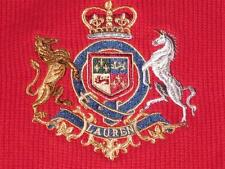 Ralph Lauren Women Small S Horse Crest Red Sweater Pullover Crewneck Cotton Knit