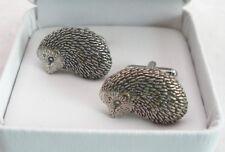 Hedgehog Cufflinks, Fine English Pewter, gift boxed