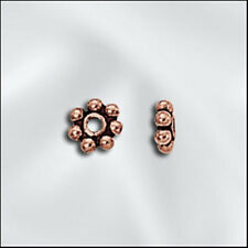 4mm Genuine Antiqued Copper Bali Style Daisy Spacers Beads (10)