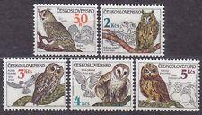 CZECHOSLOVAKIA 1986 **MNH SC#2620/24  Owls