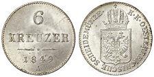 6 KREUZER 1849 A FRANZ JOSEPH I AUSTRIA ARGENTO/SILVER #6742