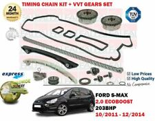 FOR FORD S MAX 2.0 ECOBOOST 203BHP 2011-> TIMING CAM CHAIN KIT AND VVT GEARS SET