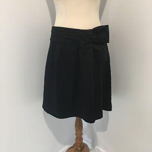 Inspyr Signature A-Line Skirt Size 12 Black Bow Detail on Waist Corporate Work