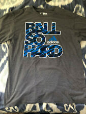 Adidas Character T-Shirt Ball So Hard Charcoal / Blue Size L Climate Material