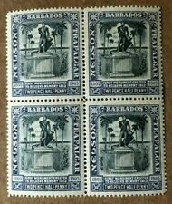 Barbados S.G. 162a 2 1/2d Indigo Block of 4 VF/XF Mint NH w/ RPSL Certificate