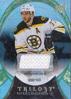 15-16 Trilogy Patrice Bergeron /103 Jersey Rainbow GREEN Bruins 2015